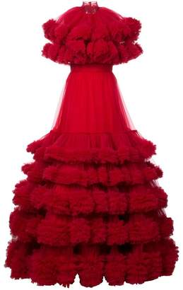 Christian Siriano long oversized fluffy dress