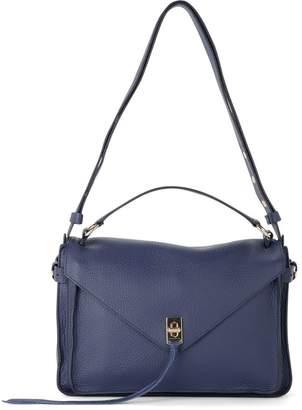 Rebecca Minkoff Darren Messenger Blue Deer Leather Handbag