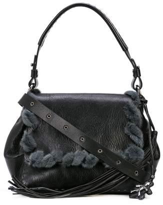 Henry Beguelin fur-trimmed crossbody bag