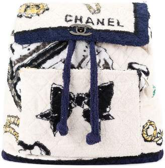 Chanel Pre-Owned terry cloth quilted backpack