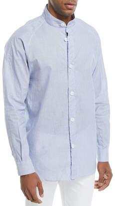 Giorgio Armani Guru Mandarin-Collar Dress Shirt