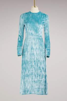 Miu Miu Velvet Backless Long Dress