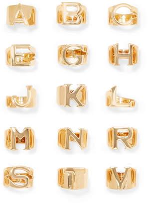 Chloé - Alphabet Gold-tone Ring - N