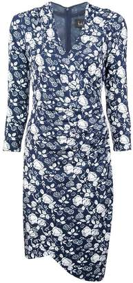 Nicole Miller print wrap dress