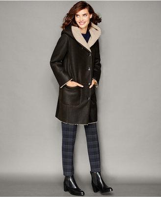 The Fur Vault Shearling Lamb Hooded Coat $2,995 thestylecure.com