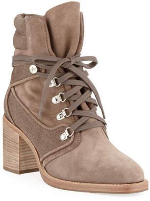 Aquatalia Elise Weatherproof Suede/Canvas Boots