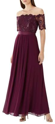Coast Purple Merlot 'Maddie' Embroidered Maxi Dress
