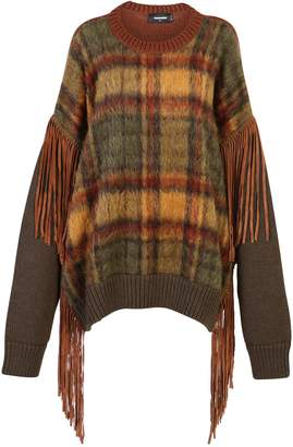 DSQUARED2 Multicolored Fringed Sweater
