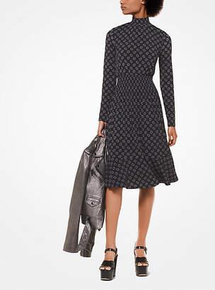 Michael Kors Foulard-Print Matte-Jersey Dress