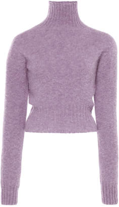 Victoria Beckham Cropped Seamless Wool Turtleneck Size: XS