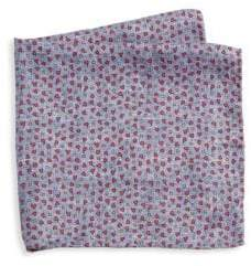 Saks Fifth Avenue COLLECTION Mini Pebble Print Silk Pocket Square