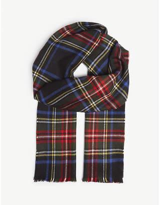 Johnstons Tartan merino-wool scarf