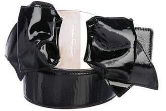 Salvatore Ferragamo Leather Bow Belt