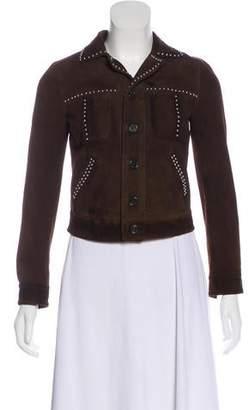 Saint Laurent Suede Studded Jacket