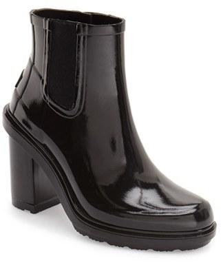 Women's Hunter 'Original Refined' Chelsea Rain Boot $195 thestylecure.com