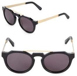 51MM Heeyeh Oval Sunglasses