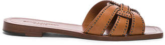Saint Laurent Studded Leather Nu Pieds Slides