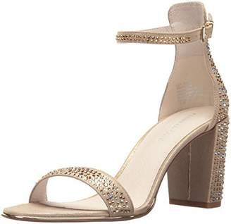 Kenneth Cole New York Women's Lex Shine Glitzy Block Heeled Sandal Ankle Strap