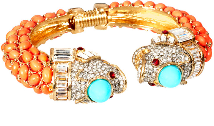 Kenneth Jay Lane Lion Fish Bracelet