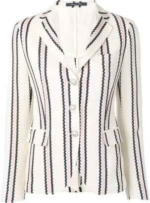 Tagliatore stripe print single-breasted blazer