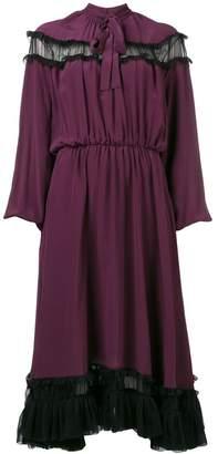 Rochas long-sleeve flared midi dress