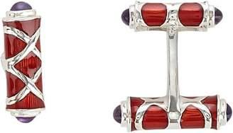 Deakin & Francis Men's Double-Sided Bar Cufflinks - Red
