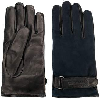 Emporio Armani contrast fitted gloves