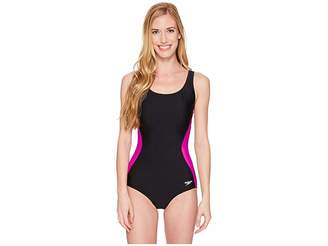 Speedo r) Illusion Splice Ultraback One-Piece
