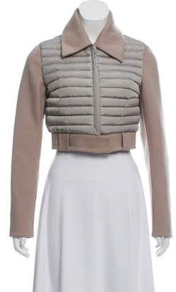 Halston Quilted Cropped Jacket Khaki Quilted Cropped Jacket