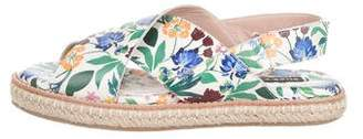 Alice + Olivia Leather Floral Print Sandals