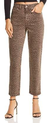 Monroe Pistola High-Rise Leopard Print Cigarette Jeans in Wilder - 100% Exclusive