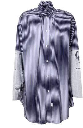 Balenciaga Contrast Sleeve Shirt
