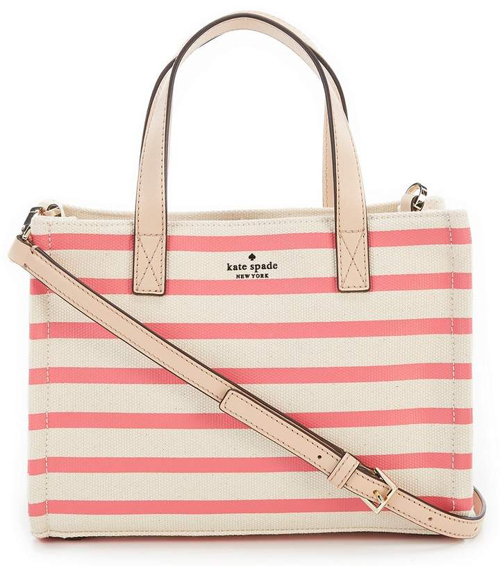 Kate Spade Washington Square Striped Sam Satchel - PEACH SORBET STRIPE - STYLE