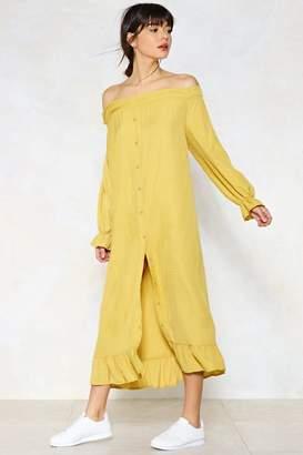 Nasty Gal Bright as a Button Maxi Dress