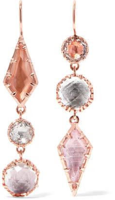 Larkspur & Hawk - Sadie Rose Gold-dipped Quartz Earrings