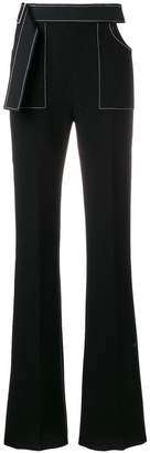 David Koma contrast-trim flared trousers
