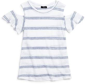 Rails Girls' Allie Striped Cold-Shoulder Tee