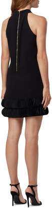 Tahari ASL Crepe Scalloped-Hem Halter Dress
