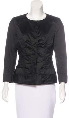 Nina Ricci Pleated Sateen Jacket