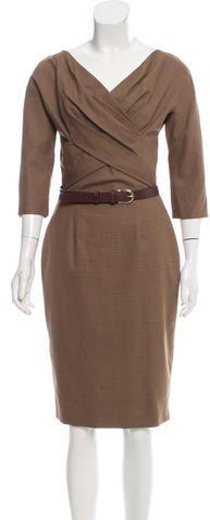 Christian Dior Houndstooth Wool Dress