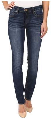 KUT from the Kloth Stevie Straight Leg Five-Pocket Jeans in Admiration w/ Dark Stone Base Wash Women's Jeans