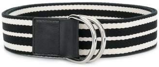 RED Valentino striped buckle belt
