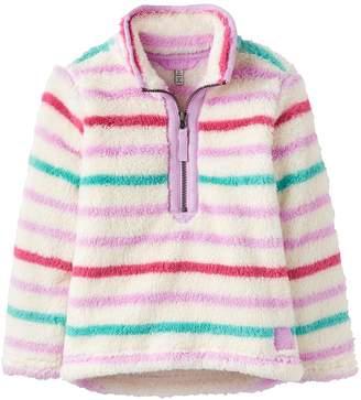 Joules Girls Merridie Multi Stripe Half Zip Fleece