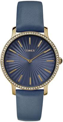 Timex Ladies' Metropolitan Starlight Goldtone &Navy Watch