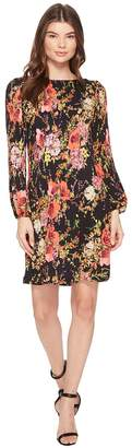 Catherine Malandrino Long Sleeve Pleated A-Line Dress Women's Dress