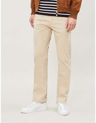 Canali Faded mid-rise regular-fit jeans
