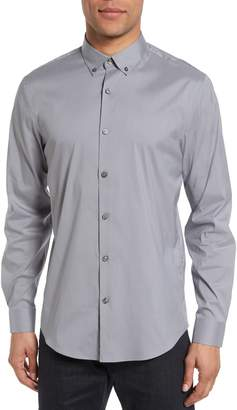 Calibrate Trim Fit Stretch Woven Sport Shirt
