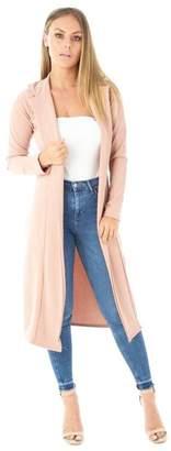 Roland Mouret Fashions Women's Long Sleeve Open Front Long Maxi Cardigan Longline Duster Coat