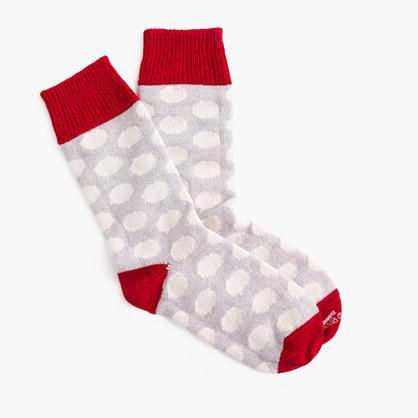 J.CrewCorgiTM cashmere socks in polka dot