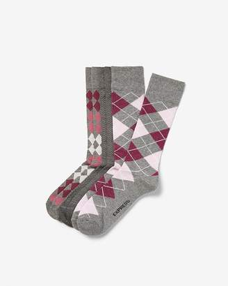 Express 3 Pack Diamond Dress Socks
